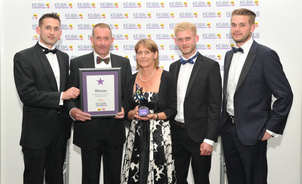 Biddenden Vineyards KEiBA 2018 Family Business of the Year Tom, Julian, Sally, Will and Sam Barnes v2