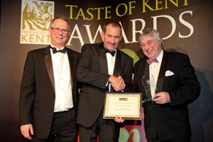 Julian Barnes collects the award for 'Best Kentish Cider' at last year's Taste of Kent awards