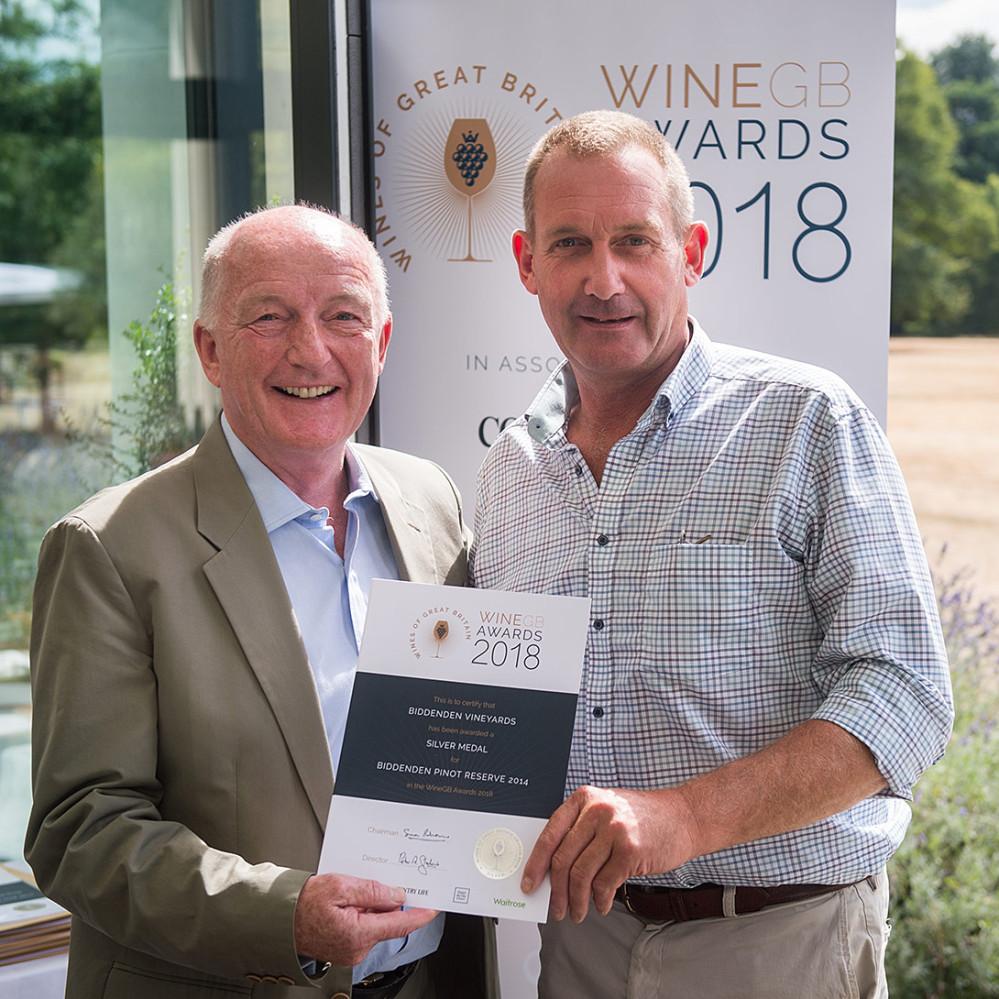 Biddenden Vineyards WineGB Awards 2018 Oz Clarke