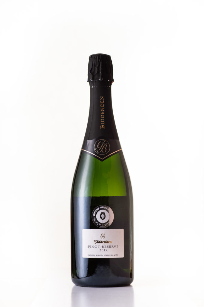 Bottle of Biddenden Pinot Reserve WineGB Awards